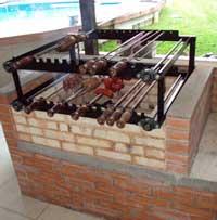 asadores de carne de ladrillo